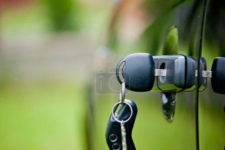 Photo for Car keys left in a lock - Royalty Free Image