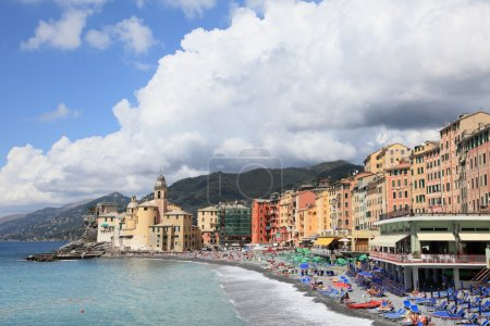 Beach resort of Camogli in summer, Italy