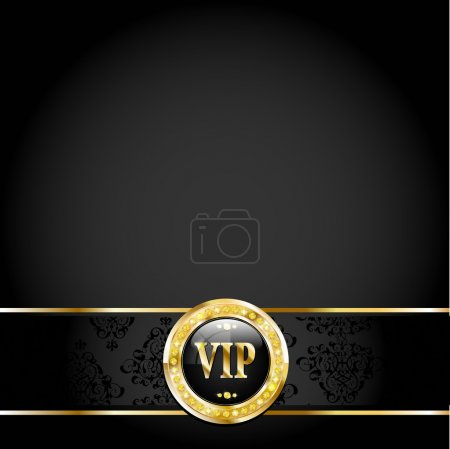 Black VIP Card with Vintage Pattern