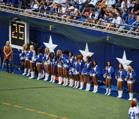 Cowboys Cheerleaders Prepare