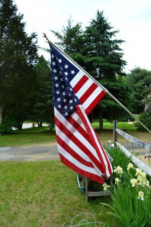 American Flag in the Garden