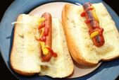 Hot dog savanyú káposztával