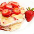 Top View of Fresh Strawberry Pancakes...