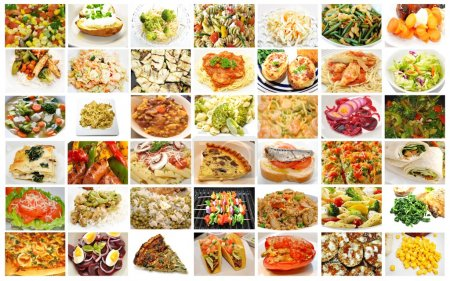Different Meals Containing Healthy Vegetables Coll...