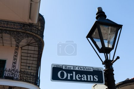 Orleans street sign