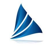Absztrakt vitorla logo design sablon