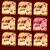 vector seamless pattern slices of bread