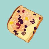 vector slice of bread with raisins