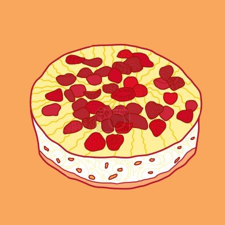 Vector strawberry pie