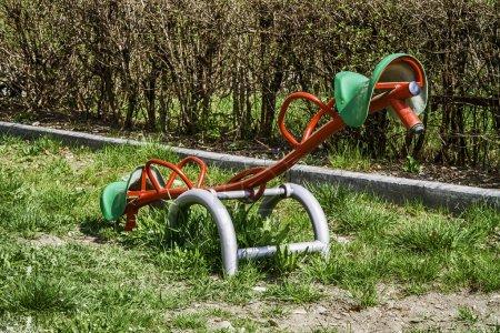 Foto de En un parque de juegos infantiles - Imagen libre de derechos