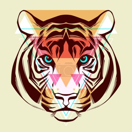 Illustration pour Tigre. illustration de mode - image libre de droit