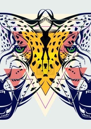 Fashion illustration of leopard head