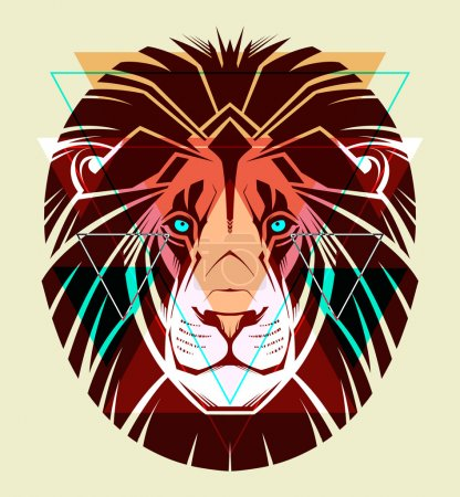 Illustration for Lion. Fashion illustration - Royalty Free Image