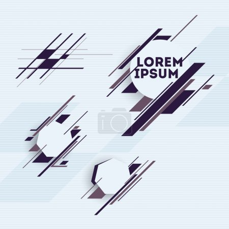Illustration for Design elements with abstract geometric forms - Royalty Free Image