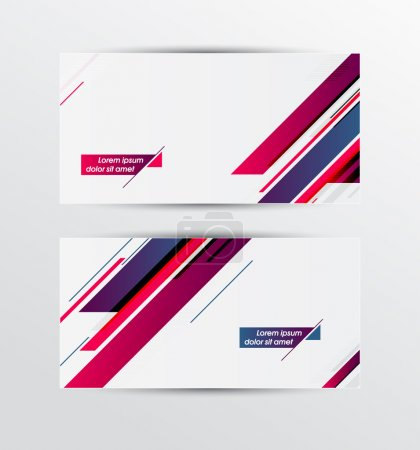Vector banners set with diagonal stripes