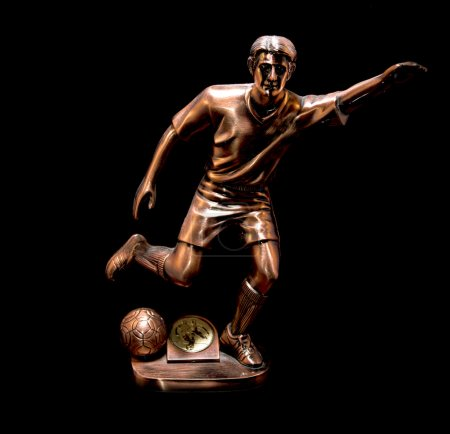 Bronze footballer