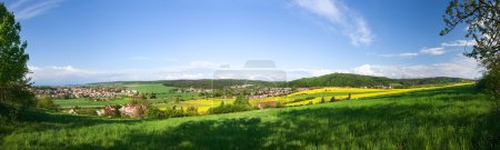 Spring landscape - panoramic view