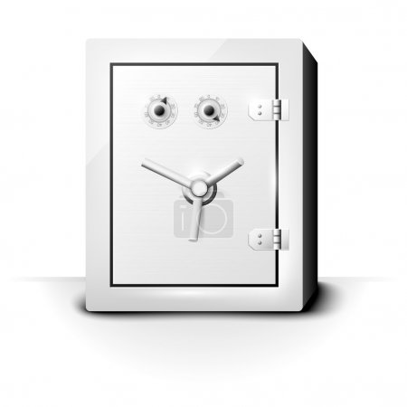 Metal safe with combination locks