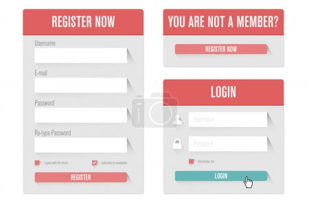 Login form in modern flat UI design