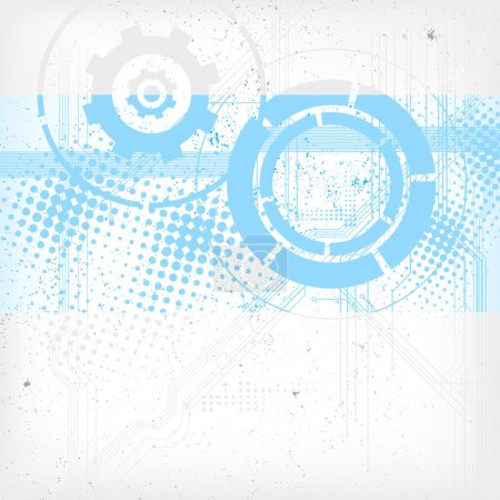 Illustration for Abstract modern technical background - vector file - Royalty Free Image