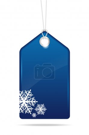 Blue christmas price tag