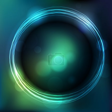 Glowing circle with blurred background
