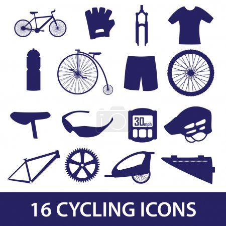 Cycling icon set eps10