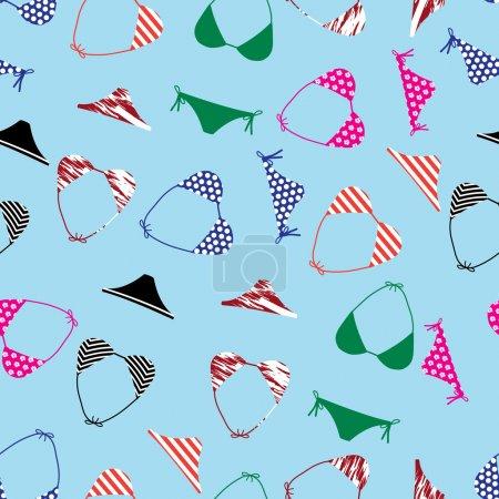 bikini swimsuit pattern eps10