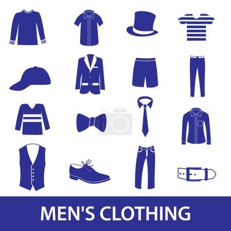 mens clothing icon set eps10