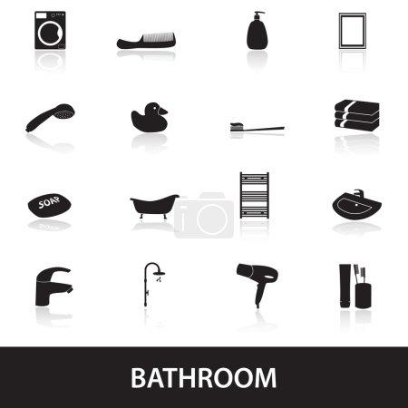 bathroom icons eps10
