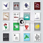 postage stamps color set eps10