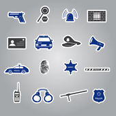 police stickers set eps10