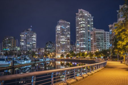 Photo for Downtownt Vancouver skyline at night - Royalty Free Image