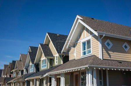 Foto de Hilera de casas adosadas modernas en vancouver, Canadá - Imagen libre de derechos