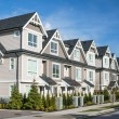 Row of the new townhouses in Richmond, British Col...