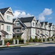 A row of a new townhouses in Richmond, British Col...