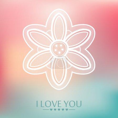Illustration pour Je t'aime. Fond vectoriel festif. Couleurs pastel . - image libre de droit