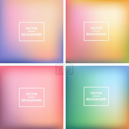 Illustration for Abstract colorful blurred vector backgrounds.  Elements for your website or presentation. - Royalty Free Image