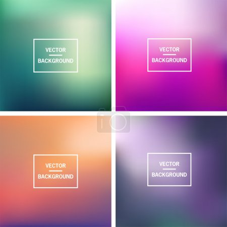 Illustration pour Abstract colorful blurred vector backgrounds.  Elements for your website or presentation. - image libre de droit