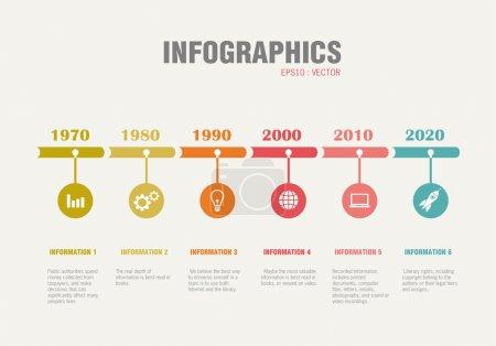 Illustration pour Montage infographique avec schémas. avec le jeu d'icônes. conception de vecteur - image libre de droit