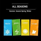 Vektorové ikony sezóny