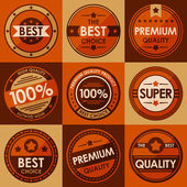 Set of retro vintage badges and labels Flat Style Vector illustration in eps10