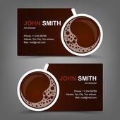 Business card coffee