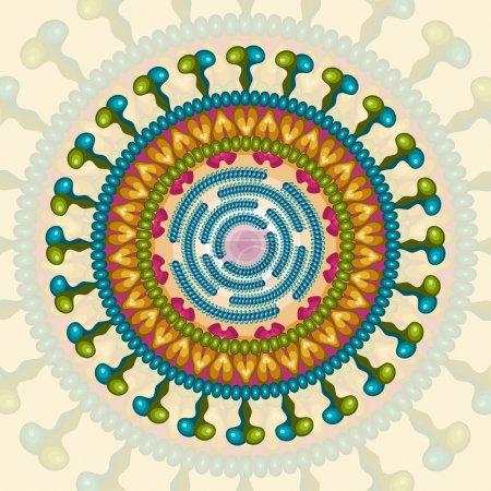 Illustration for Rota virus. Background. Vector Illustration. - Royalty Free Image