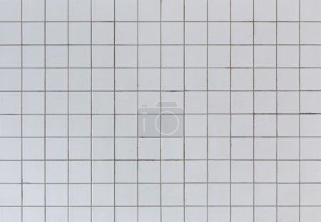 Photo pour Texture de mur de carreaux de céramique gris sale - image libre de droit