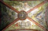 Venetian Religious Wall painting in Rialto market in Venice