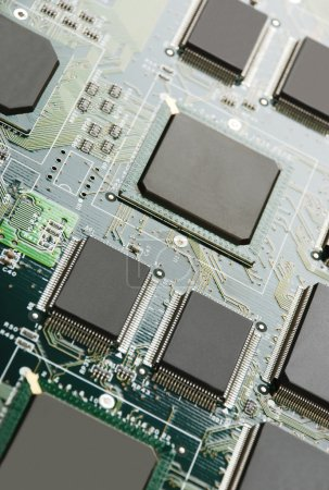 Photo for Electronic system board background - Royalty Free Image
