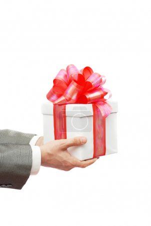Photo for The businessman offering to you a gift - Royalty Free Image