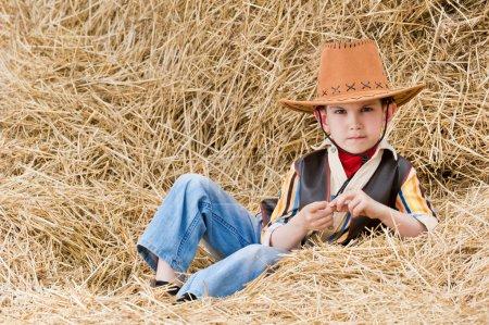 Boy in cowboy suit