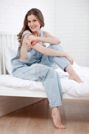 Girl in jumpsuit